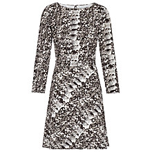 Buy Reiss Snake Print Heidi Dress, Black/White Online at johnlewis.com