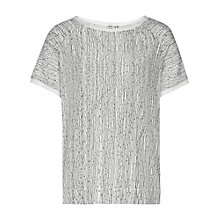 Buy Reiss Paro Print Top, Cream Online at johnlewis.com