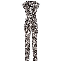 Buy Reiss Printed Monica Jumpsuit, Black/White Online at johnlewis.com