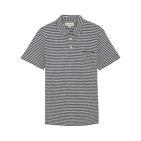 Buy Jigsaw Striped Polo Shirt, Navy Online at johnlewis.com