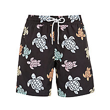 Buy Vilbrequin Moorea Turtle Print Swim Shorts, Navy Online at johnlewis.com