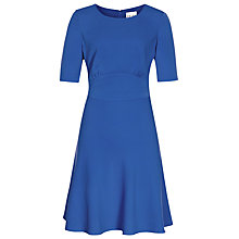Buy Reiss Nipped Waist Hedy Dress, Indigo Online at johnlewis.com