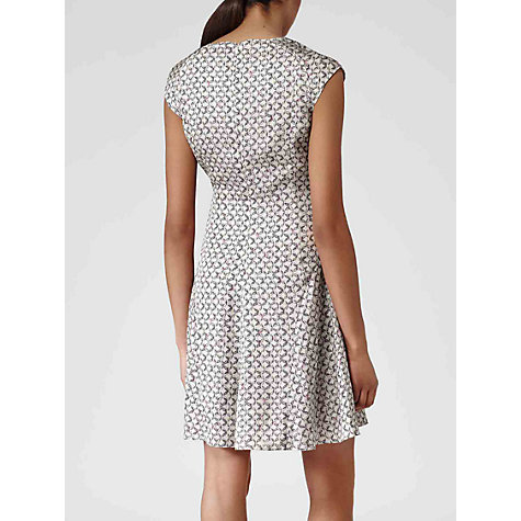 Buy Reiss Link Print Scala Dress, Grey Print Online at johnlewis.com