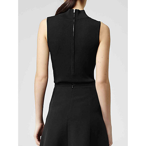 Buy Reiss Turtle Neck Sleeveless Turin Top, Black Online at johnlewis.com