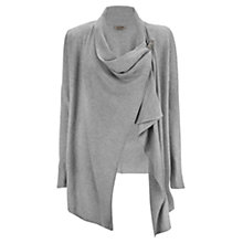 Buy Jigsaw Rice Stitch Drop Cardigans, Mel Grey Online at johnlewis.com