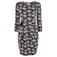 Buy Warehouse Rose Floral Day Dress, Multi Online at johnlewis.com