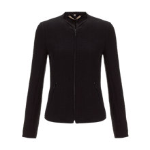 Buy Jigsaw Stretch Cardigan Jacket, Black Online at johnlewis.com