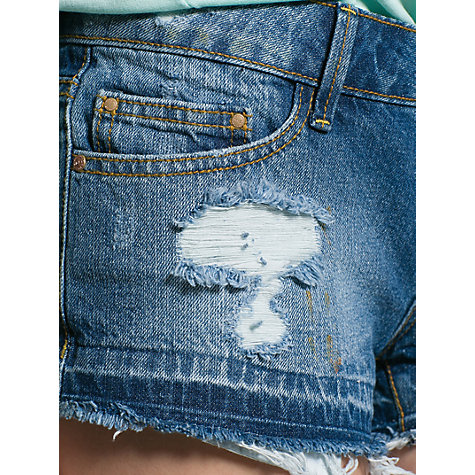 Buy Mango Denim Shorts, Medium Blue Online at johnlewis.com