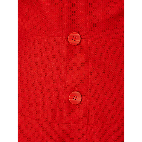 Buy Jaeger Maria Button Back Dress, Red Online at johnlewis.com