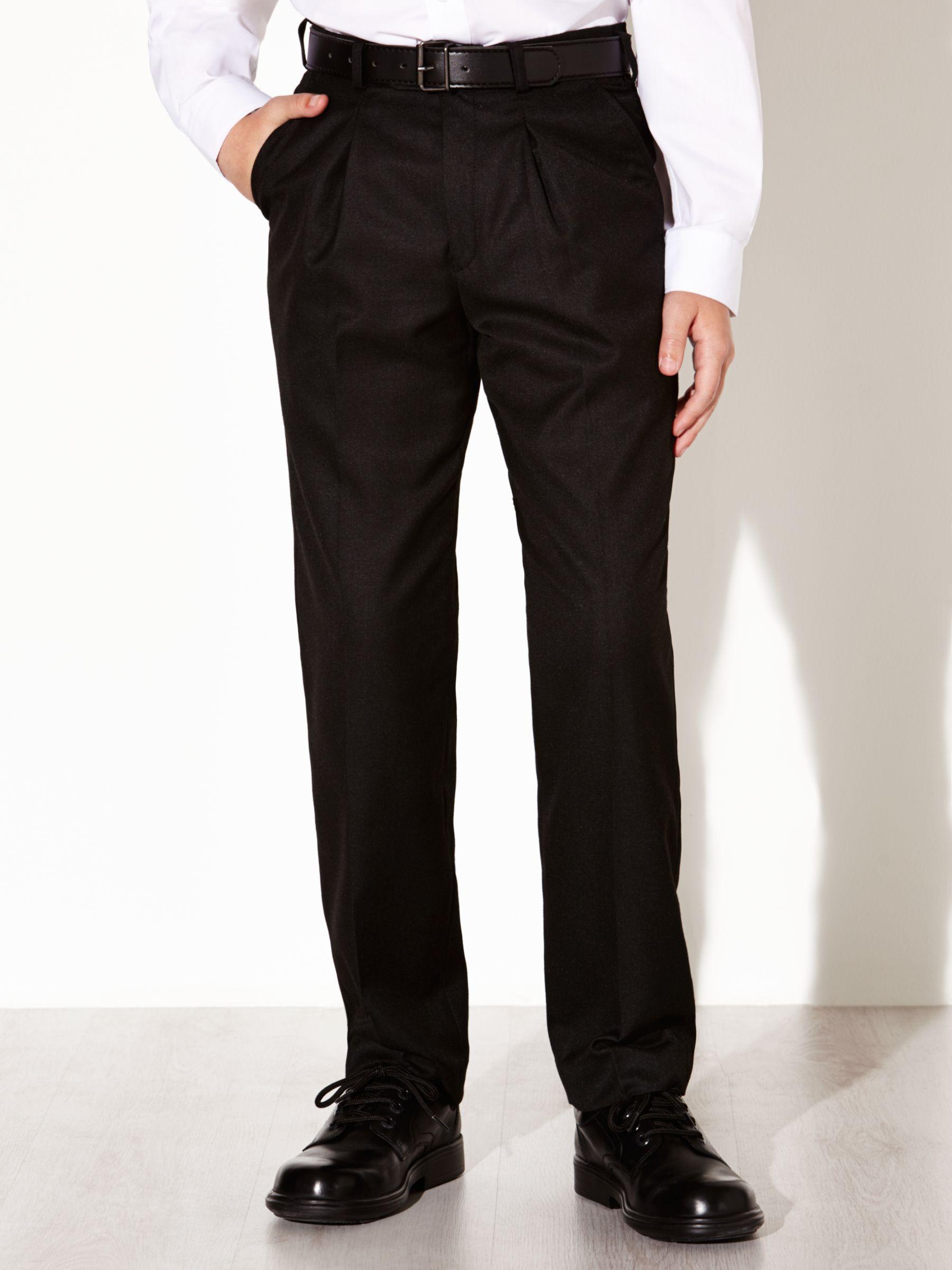 David Luke David Luke Senior Regular Fit Eco-Trousers with Belt