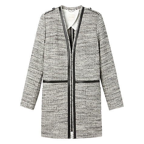 Buy Gérard Darel Tweed Coat, Black Online at johnlewis.com