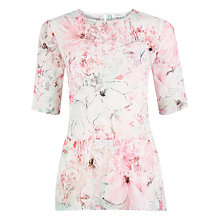 Buy Kaliko Floral Print Top, Pink Online at johnlewis.com