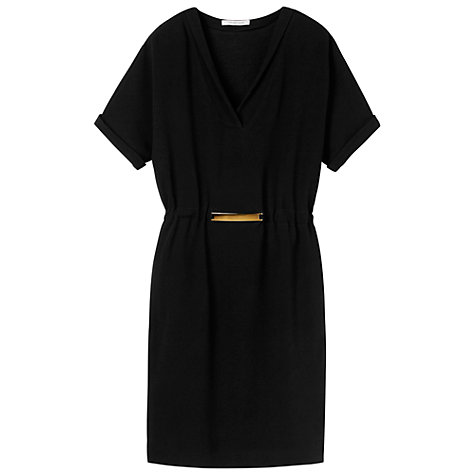 Buy Gérard Darel Gold-Belted Dress, Black Online at johnlewis.com