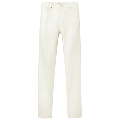 Buy Gérard Darel Waxed Jeans, Nacre Online at johnlewis.com