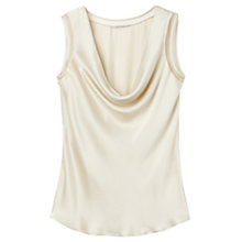 Buy Gérard Darel Silk Cowl Neck Top, Beige Online at johnlewis.com