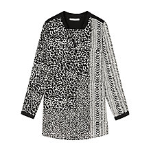 Buy Gérard Darel Long Monochrome Printed Shirt, Black Online at johnlewis.com