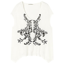 Buy Gérard Darel Oversized T-Shirt, White Online at johnlewis.com