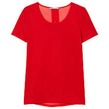 Buy Gérard Darel 2-Fabric Lipstick T-Shirt, Raspberry Online at johnlewis.com