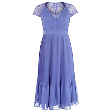 Buy Kaliko Middleton Pleated Dress, Purple Online at johnlewis.com