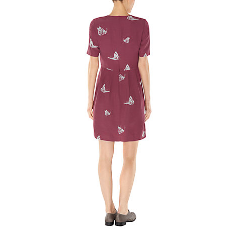 Buy NW3 by Hobbs Butterfly Dress, Cranberry Multi Online at johnlewis.com