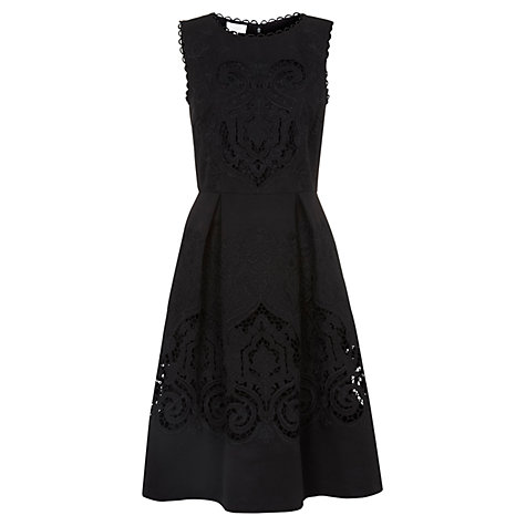 Buy Hobbs Invitation Maida Vale Dress, Black Online at johnlewis.com