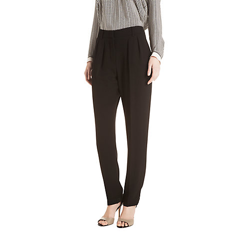 Buy Gérard Darel Pleated Trousers, Black Online at johnlewis.com
