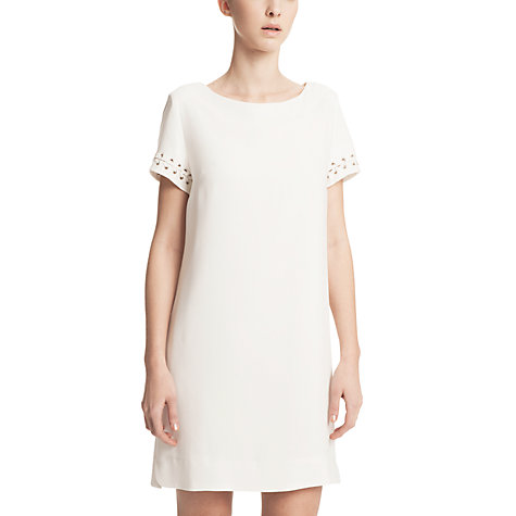 Buy Gérard Darel Crepe Dress, White Online at johnlewis.com