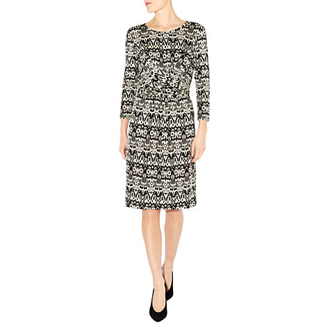 Buy Hobbs Rebekka Dress, Black/Ivory Online at johnlewis.com