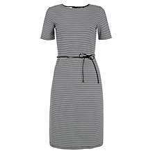 Buy Hobbs Striped Imelda Dress, Navy/Ivory Online at johnlewis.com