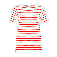 Buy Boutique by Jaeger Scallop Yoke T-Shirt, White / Red Online at johnlewis.com