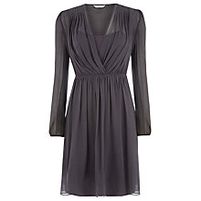 Buy Kaliko Silk Shoulder Tuck Dress, Grey Online at johnlewis.com