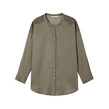 Buy Gérard Darel Shirt, Kaki Online at johnlewis.com