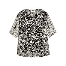 Buy Gérard Darel Printed Blouse, Black Online at johnlewis.com