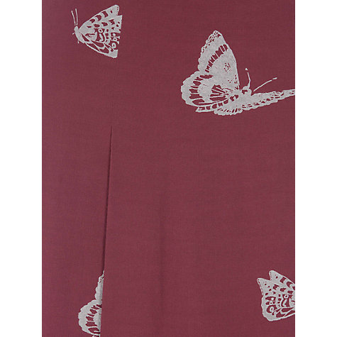 Buy NW3 by Hobbs Butterfly Skirt, Cranberry Multi Online at johnlewis.com