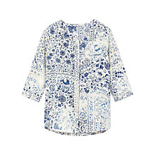 Buy Gérard Darel Floral Print Shirt, Blue Online at johnlewis.com