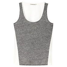 Buy Gérard Darel Dual Material Top, White Grey Online at johnlewis.com