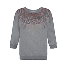 Buy NW3 by Hobbs Maya Sweatshirt, Grey Marl Online at johnlewis.com