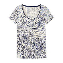Buy Gérard Darel Flowery T-Shirt, Blue Navy Online at johnlewis.com