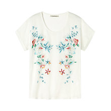 Buy Gérard Darel Flowery T-Shirt, White Online at johnlewis.com