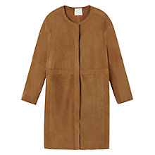 Buy Gérard Darel Perforated Suede Coat, Camel Online at johnlewis.com