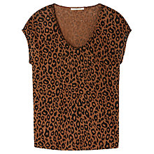 Buy Gérard Darel Leopard T-Shirt, Brown Print Online at johnlewis.com