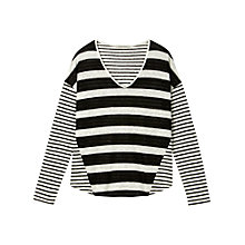 Buy Gérard Darel Striped Sweater, Black Online at johnlewis.com