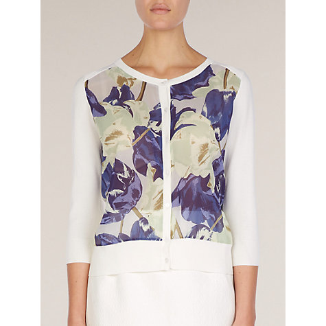 Buy Planet Firenze Floral Front Cardigan, Multi Coloured Online at johnlewis.com