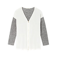 Buy Gérard Darel Dual Material Cardigan, White Grey Online at johnlewis.com