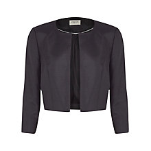 Buy Precis Petite Cropped Jacket, Black Online at johnlewis.com