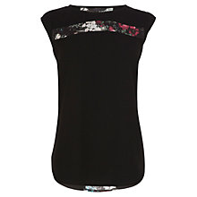 Buy Coast Livia Top, Black Online at johnlewis.com