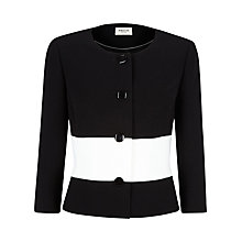 Buy Precis Petite Colour Block Jacket, Black Online at johnlewis.com