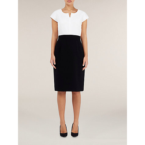 Buy Precis Petite Colour Block Shift Dress, Black Online at johnlewis.com
