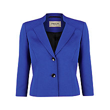 Buy Precis Petite Iris Ottoman Jacket, Blue Online at johnlewis.com