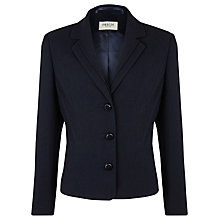 Buy Precis Petite Textured Workwear Jacket, Navy Online at johnlewis.com